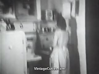 1940s vintage day dress Wife fucked by her husband 1940s vintage