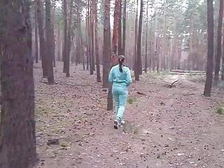 Pee she party Slut peeing in woods