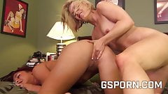 Hot milfs friends fucking after training