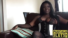Ebony girl with big tits gets fucked