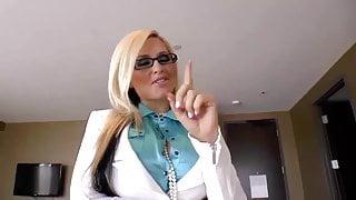 Blonde bitch step mom from internet-website