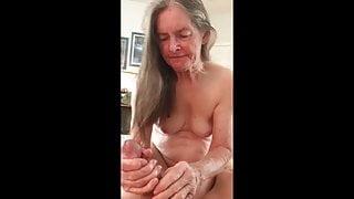 Grandma loves her cum