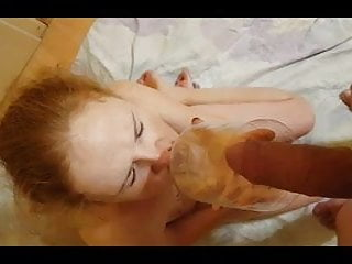Interracial human toilet Human toilet - my worthless pig swallow all piss