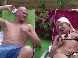 Milf seduce young honey German hot milf seduce young boy to fuck at pool