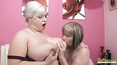 OldNanny - Busty British Mature Lesbians Toying