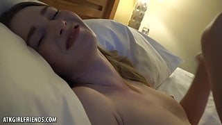 Ashely Lane Gives You A Blowjob, Then Rides Your Cock