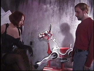 Black leather lingerie thumbs White slave dude must obey hot redhead mistress in leather lingerie and garters