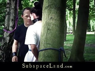Bdsm fantasy scenarios Bdsm fantasy in the forest with hot slave