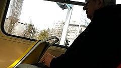 Hot grandpa from Croatia in tram