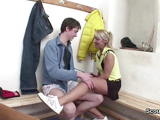 6 lesson milf - Milf teacher seduce young boy to fuck after sport lesson