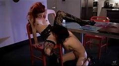 Devilish Elle fucks her lesbian lover with passion
