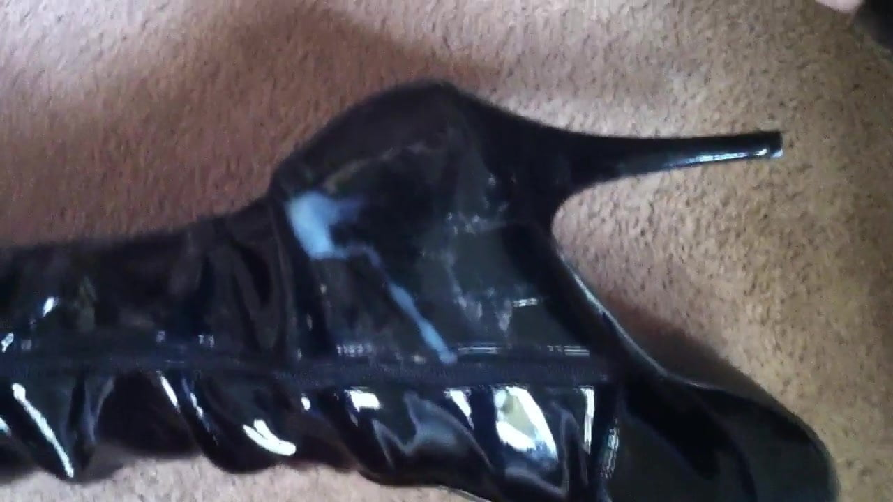 Leather Boots High Heels