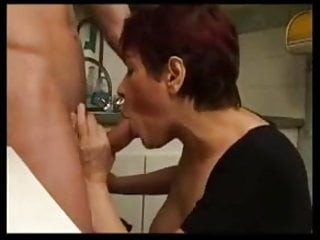 French hard tits fucked Indecent french mature fucks dildo and hard cock