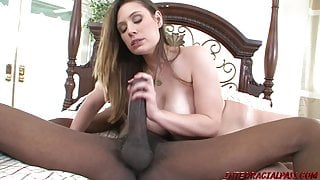 StepMom with huge boobs rides big black anaconda dick