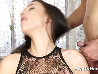 Getting to wet during sex - Pussy pissing - queenie gets wet during sloppy blowjob