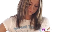 Young Little Andi Pink Gets Nude While Ironing!