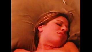 Girlfriend rubs pussy for boyfriend and announces orgasm