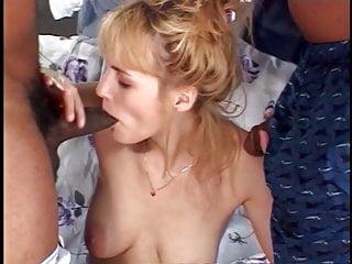 Women sucking two huge cocks Horny blonde babe loves sucking two huge dicks