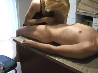 Girls drinkong cup fulls of cum Girl fucked on counter-top gets a pussy full of cum