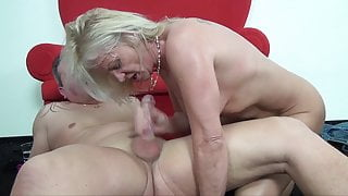 Hot granny assfucked by her stepson