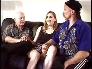 Hot horny milfs fucked - Hot blonde with a beautiful bald pussy gets fucked as horny dudes watch
