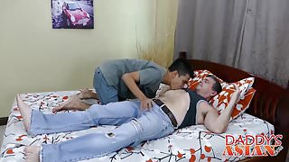 Asian skinny twink loves hard and deep anal destruction