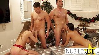 Spreading Holiday Cheer Across Their Faces - Jizzwold XXXmas