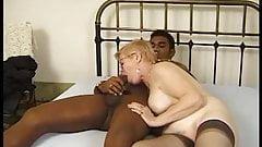 Granny with black cock