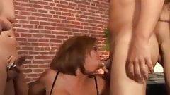 Two hot sluts in a blowbang contest DTD