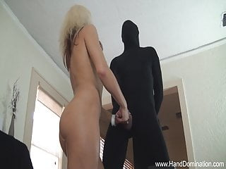 Girl dominates guy and cock Fitness girl dominates large white cock