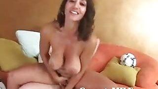 Soccer Mom Sucks And Fucks Cock, Then Eats Cum