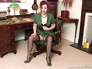 College jack off club - Redhead is your vintage nylon fetish slut at jerk off club