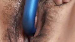 Beautiful busty brunette BBW fucks her soaking wet pussy