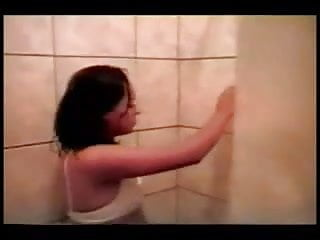 Teens in a shower - Teens in the shower