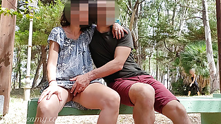Pussy flash – Stranger caught me in the park and helped me squirt