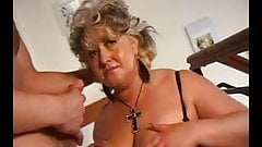 SEXY MOM n100 blonde mature bbw with a young man
