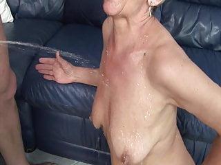 Pee like a girl Granny likes pee