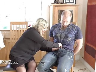 Free husband watch wife rough fuck - Busty mature wife makes her husband watch being fucked