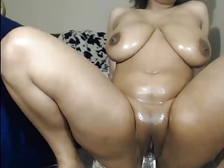 Ebony dildo fuck videos Busty ebony babe fucking her self with her dildo