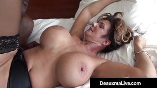 Voluptuous Vixen Deauxma Fucks & Sucks On A Big Black Cock!