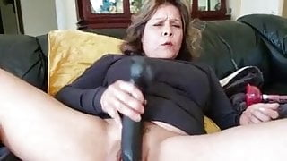Mature Latina Plays with her BIG PUSSY and Squirts