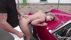 Petite Whore Fuck Outdoor by Stranger for Money in Germany