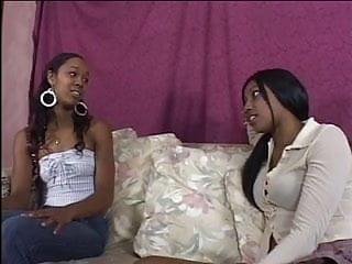 Ebony lesbian strapon ebony Ebony lesbian sluts lick cunt and dildo fuck
