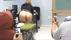Teen Flashing In Classroom