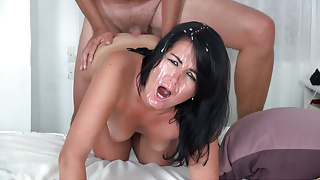 CLOSE-UP anal orgasm with a lot of splashing cock