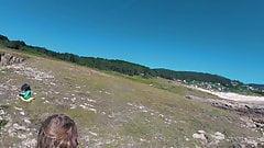 ASS DRIVER XXX - Galicia beach Doninos. Naked dance Sasha Bi