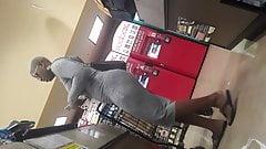 VPL ebony gray dress ebony milf part 3of3