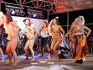 Oler women naked - Women dancing naked on stage