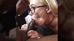 Blonde wife fucks her first bbc