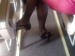 Sweeden candids pantyhose Candid airplane feet pantyhose shoeplay